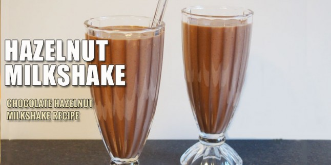Chocolate hazelnut milk shake