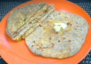 Delicious Sweet Corn Paratha Recipe