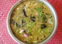 Easy Vankaya Pachipulusu Recipe – Brinjal Raw Rasam Recipe