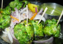 Green Chicken Kebab Recipe