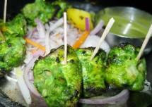Green Chicken Kebab Recipe