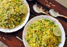 Healthy Green Pea Poha Recipe
