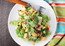 Green Salad with Muskmelon Dressing Recipe