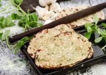 Methi Soya Garlic Naan Recipe