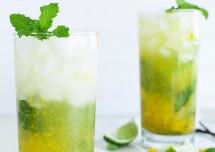 Vanilla Mango Mojito Cocktails