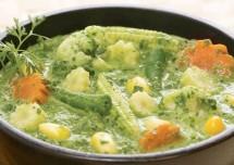 Vegetables In Green Gravy Recipe