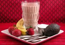 Chocolate Banana Strawberry Milk Shake Recipe