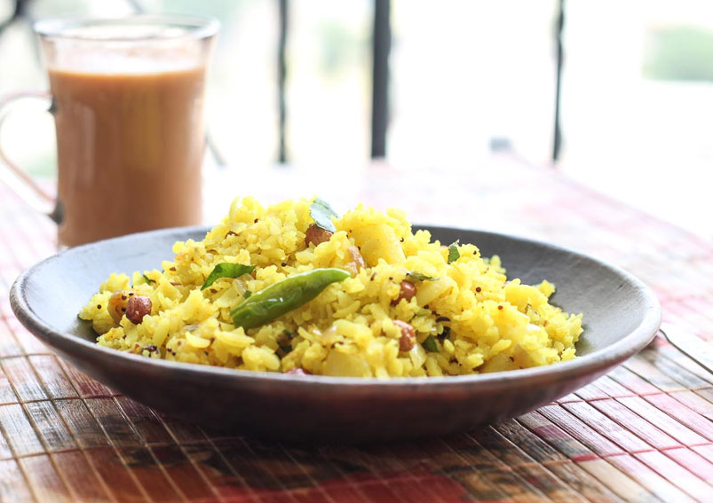 Aloo-Onion Poha
