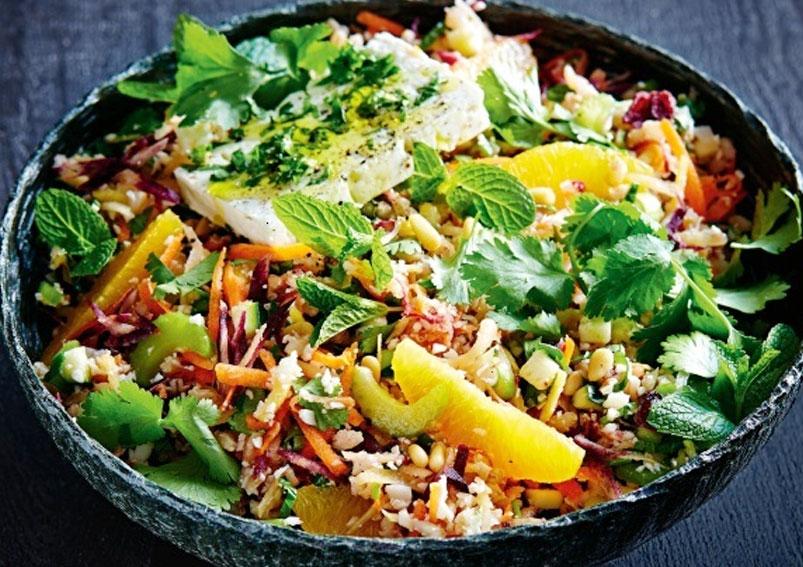 Barley And Raw Veg Salad Recipe