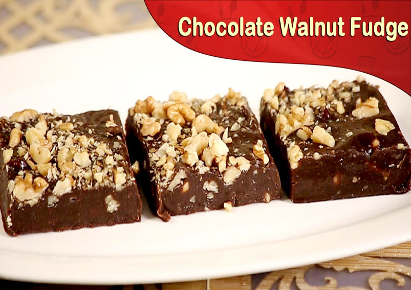 Yummy Chocolate Walnut Fudge Recipe| Yummyfood recipes.in
