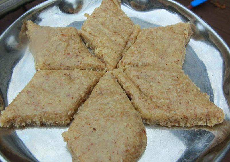 South Indian Famous Coconut Badam Burfi Recipe