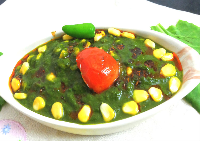 Delicious Corn Palak Recipe