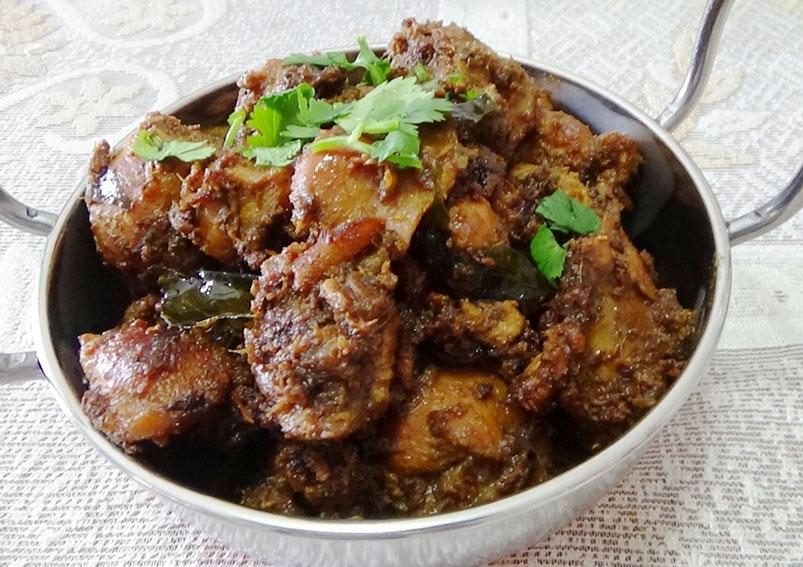Tasty Dry Masala Chicken Recipe