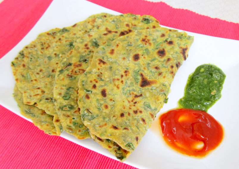 Easy Palak Paratha Recipe – Spinach Paratha