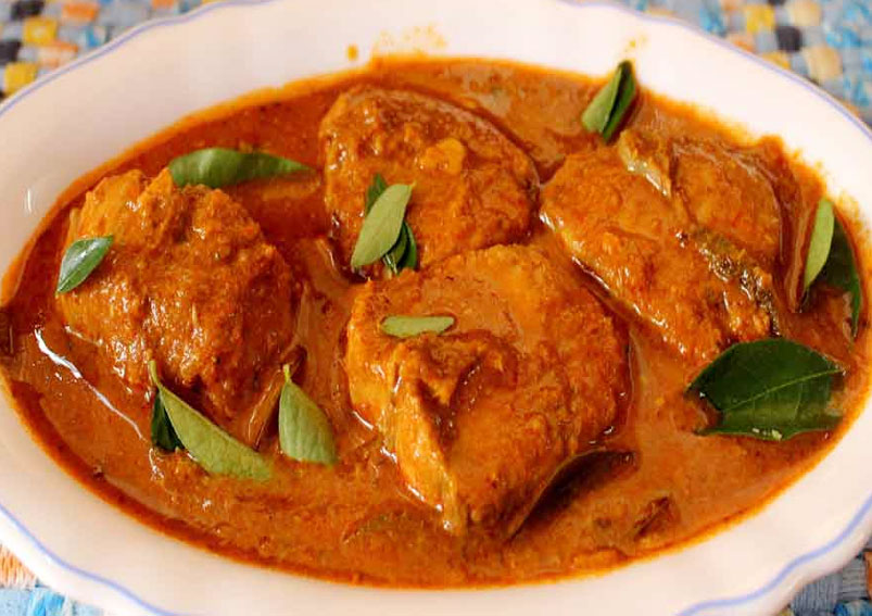 Kerala Fish Curry Recipe with Coconut Oil