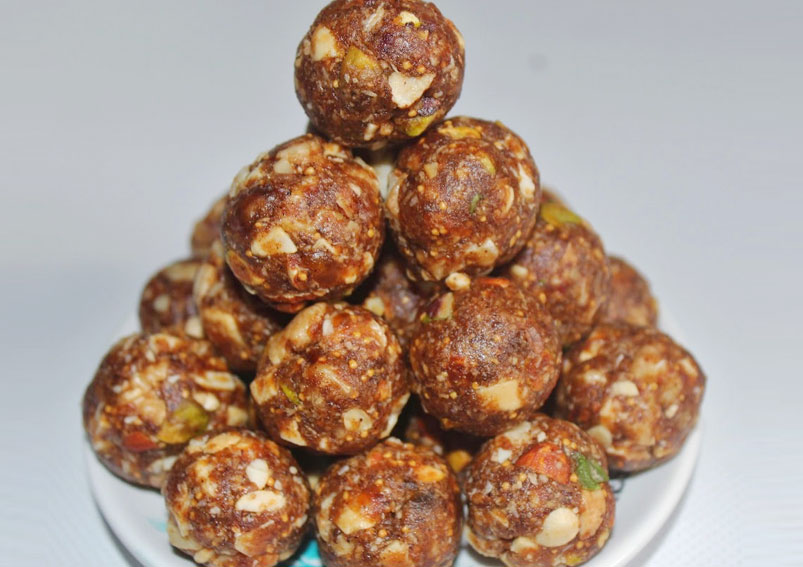 Healthy Dry Mix fruits Laddu Recipe