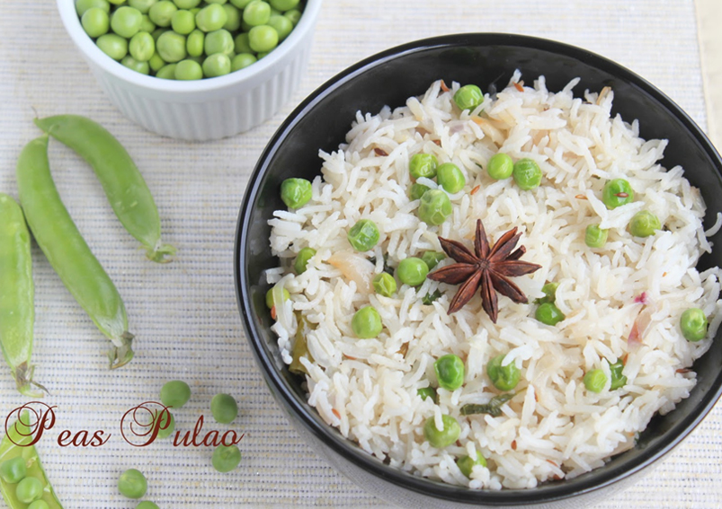 Healthy Green Peas Pulao Recipe