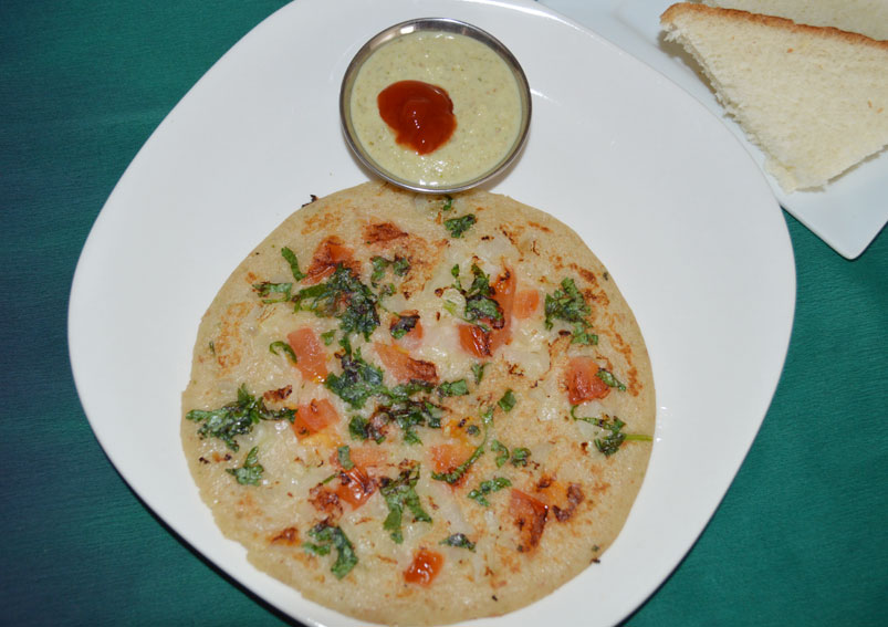 Indian Vegetarian Snacks Bread Uttapam Recipe