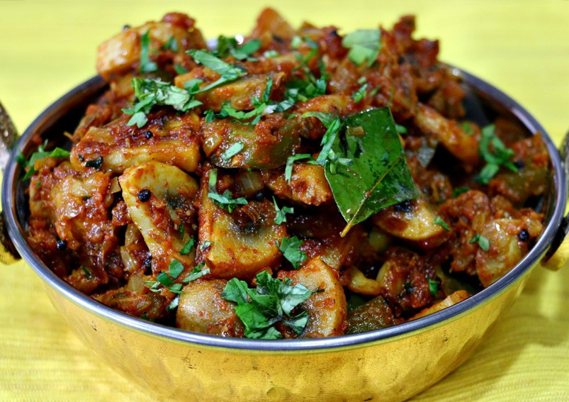 Spicy Mushroom Masala Recipe