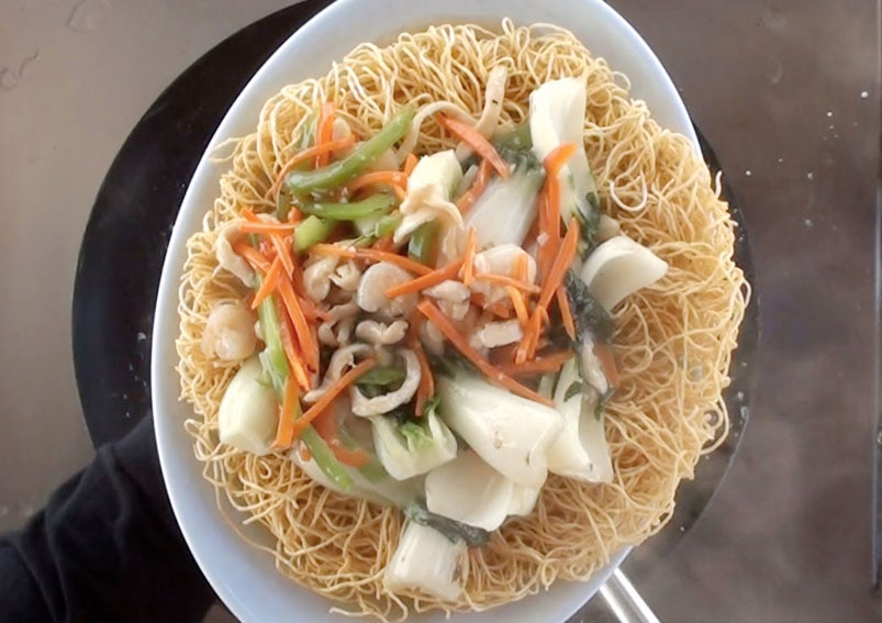 Pan Fried Noodles Recipe