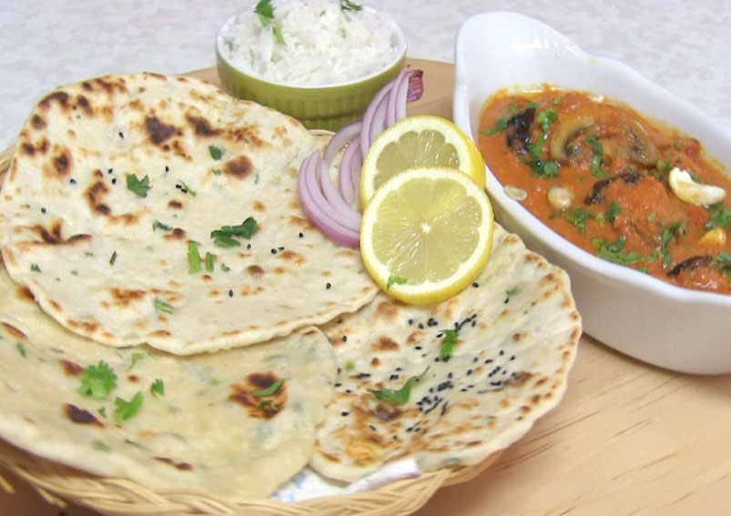 Soft Garlic Naan Recipe