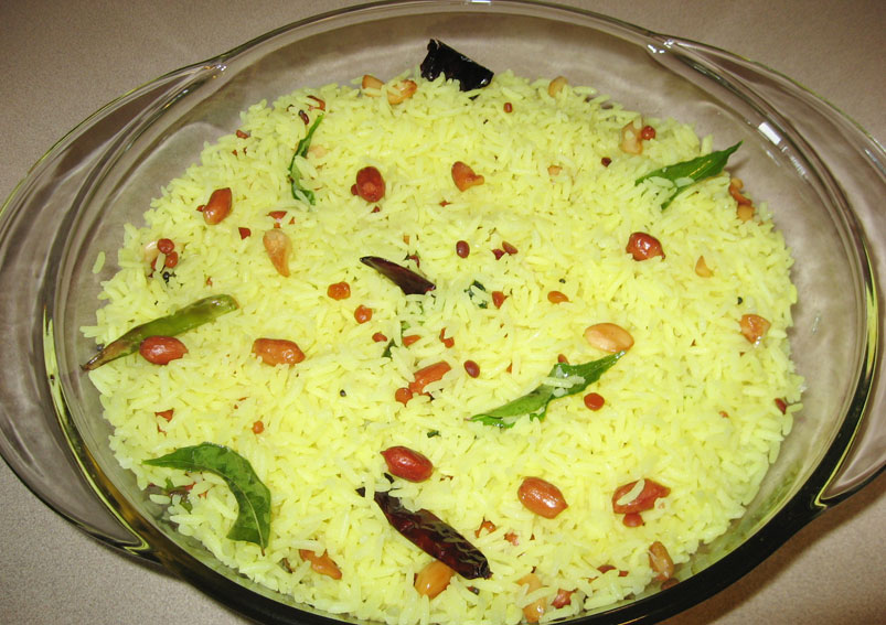 South Indian Easy Lemon Rice Recipe