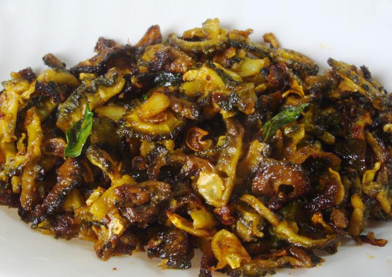 South Indian Style Kakarkaya Fry Recipe