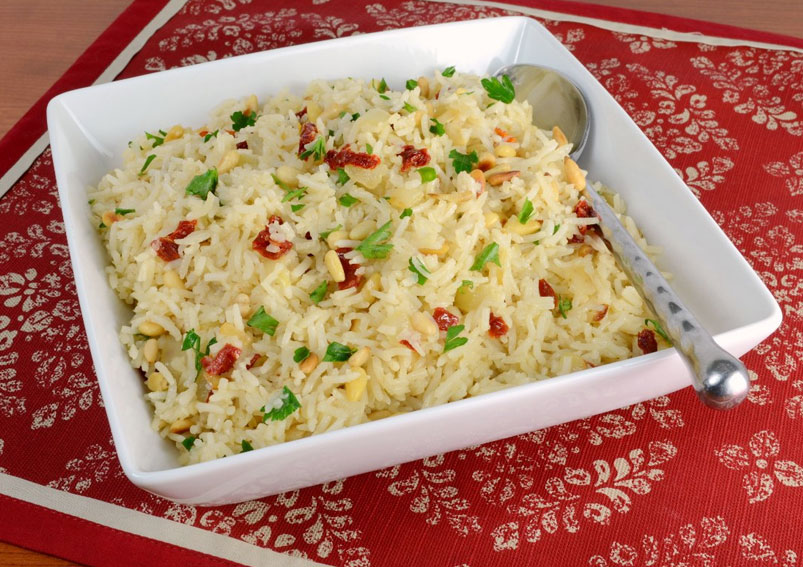 Spicy Tomato Garlic Rice