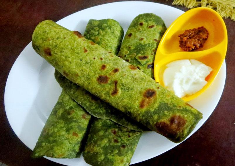 Healthy Spinach Paratha Recipe