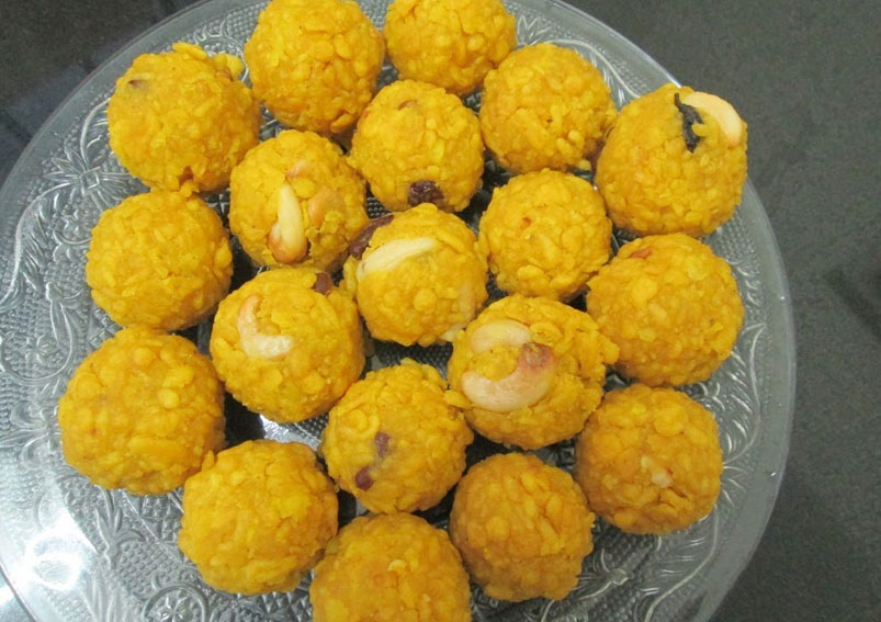 Sweet Boondi Laddu Recipe