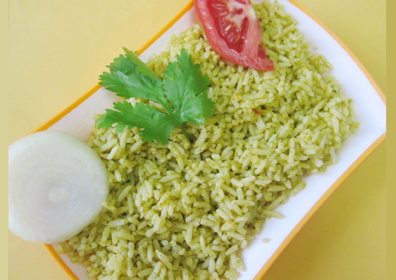 Texan Palak Rice Recipe