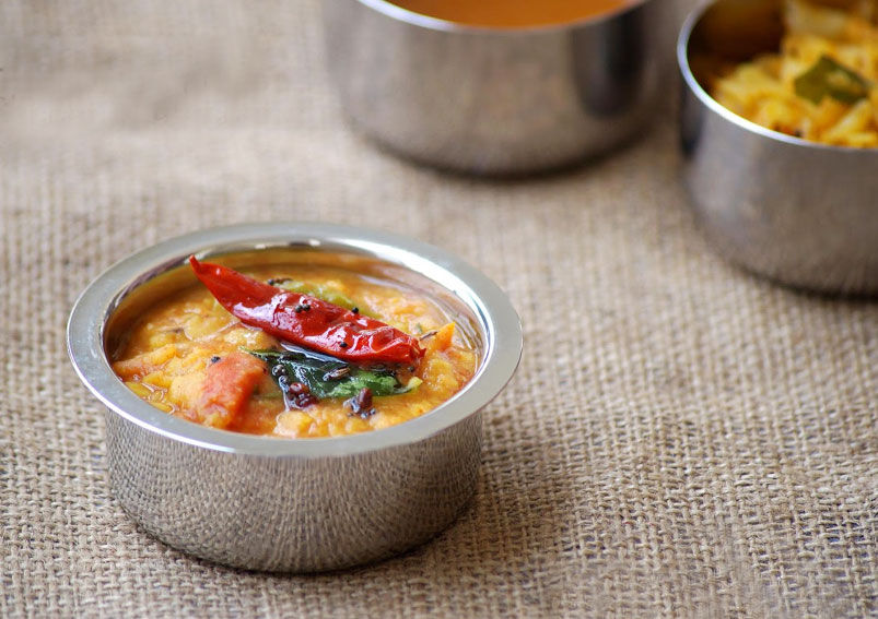 Andhra Style Tomato Dal Recipe