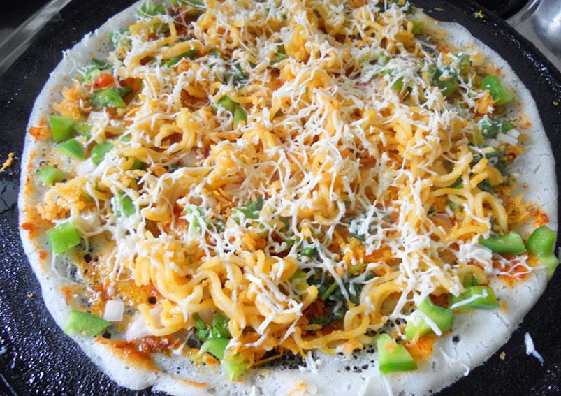 Easy Vegetable Cheese Dosa Recipe