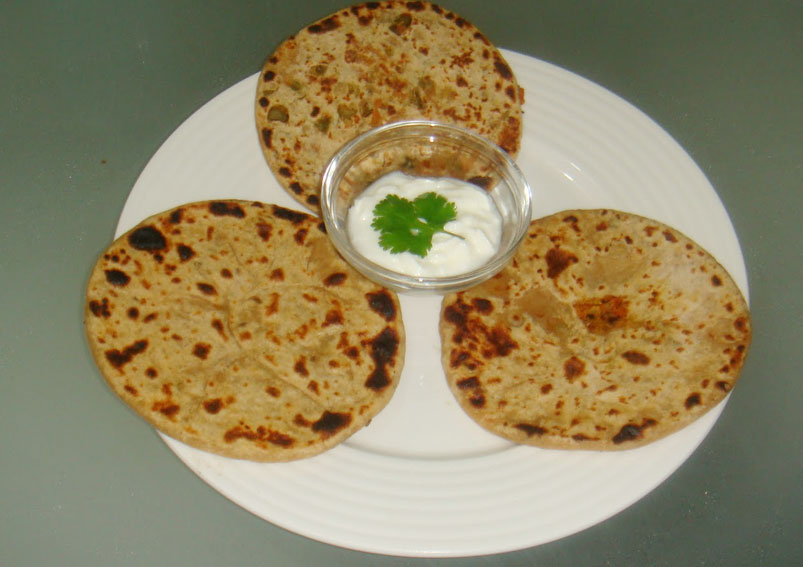 Easy Corn and Vegetable Paratha Recipe