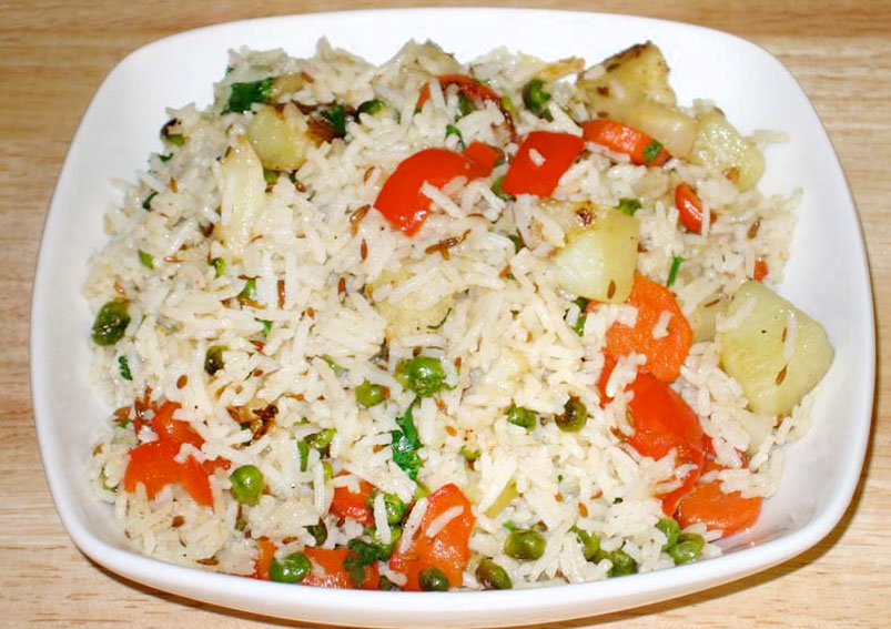 Mouth Watering Mixed Vegetable Pulao Recipe