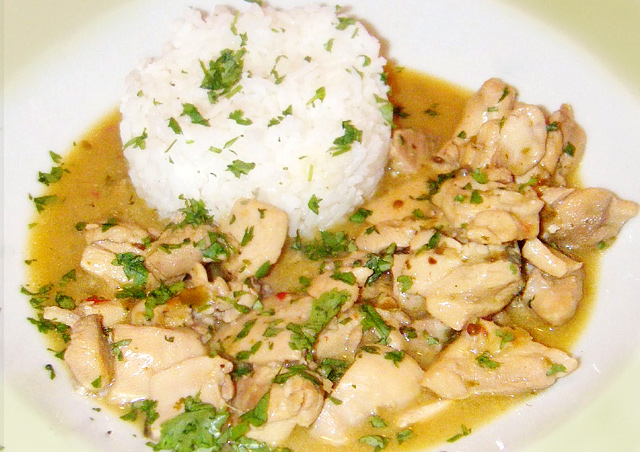 Fish with Thai Green Curry recipe