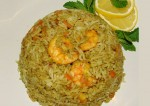 Tasty Green Masala Prawn Pulao Recipe