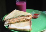Grilled Egg Bhurji Sandwich Recipe