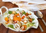 Roasted vegetables and Oat Salad with Feta Cheese